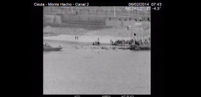 Interior difunde los vídeos de Ceuta
