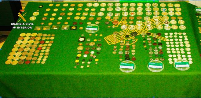 Tres detenidos por robar monedas valoradas en 300.000 euros en Palma