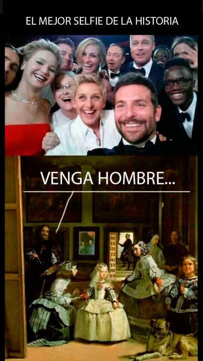 Velázquez se ríe del 'selfie' de los Oscar
