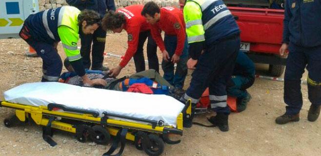 Rescatado un alemán de 64 años herido en Raixeta