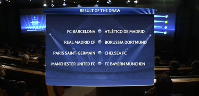 Barça-Atlético y Madrid-Borussia en la Champions