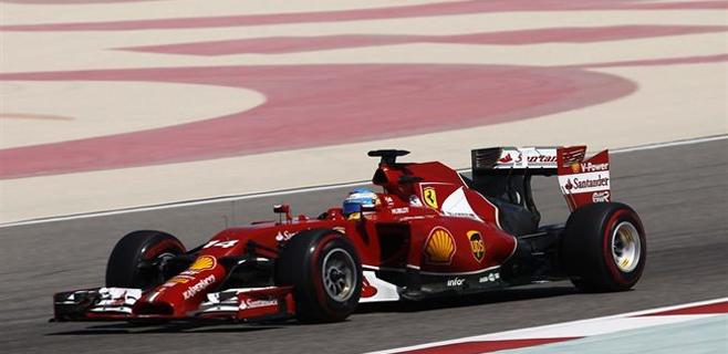 Alonso, tercero en los test de Bahréin