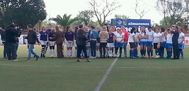 Fútbol femenino en Llucmajor por el Día de la Mujer