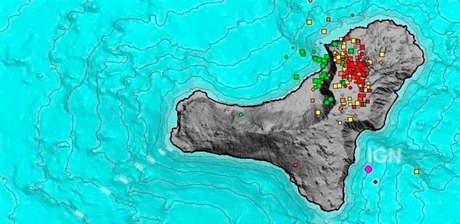 El Hierro registra más de 150 temblores