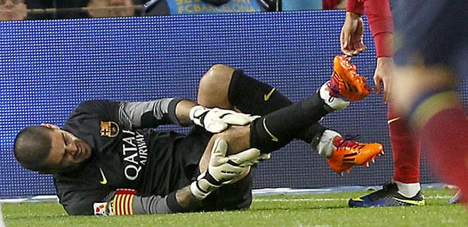 7 meses de baja para Víctor Valdés