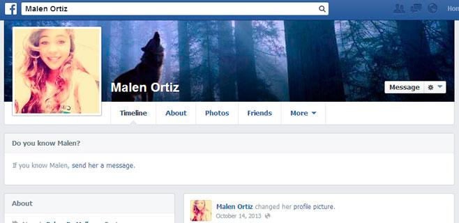 Movimientos en el Facebook de Malén