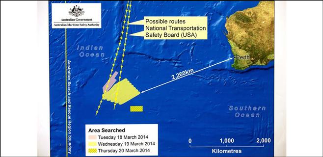 Australia halla indicios del avión desaparecido