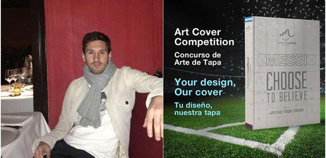 Messi monta un concurso para elegir el diseño de su libro