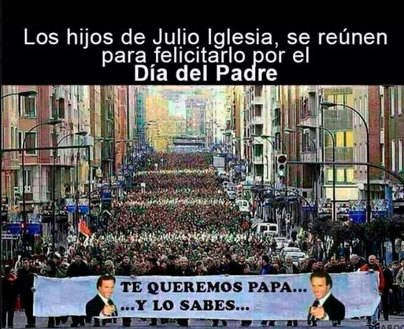 Los hijos de Julio Iglesias salen a la calle para felicitarle