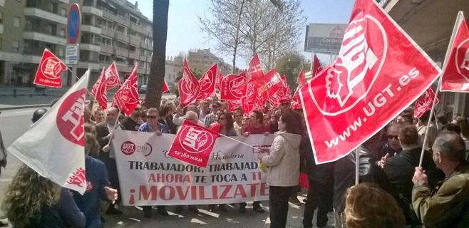 Los sindicatos activan en la calle la presión por el convenio de Hostelería