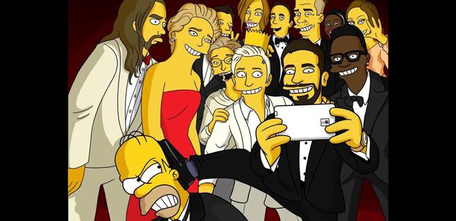 Los Simpson revelan la verdad del selfie de DeGeneres