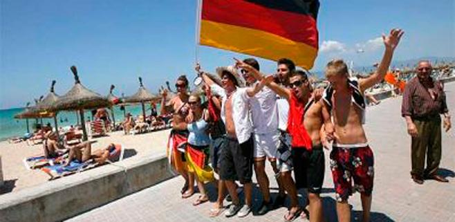Los turistas alemanes puntúan con un 8 su satisfacción tras visitar Balears