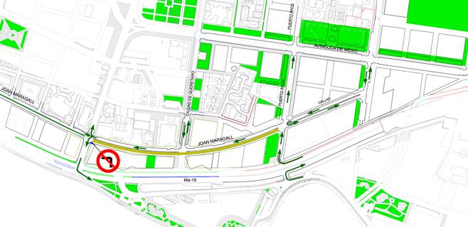 Cort resuelve la entrada al Portixol desde la autopista del aeropuerto