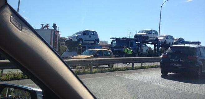Espectacular accidente en Son Castelló