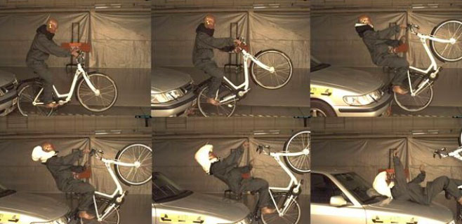 Inventado un casco para ciclistas con airbag