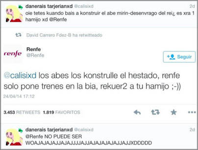 El community manager de Renfe arrasa