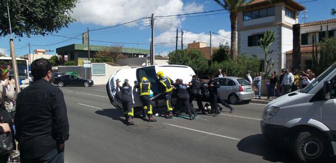 Un herido en un accidente en La Vileta