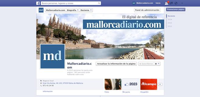 mallorcadiario.com supera los 2.000 likes en Facebook
