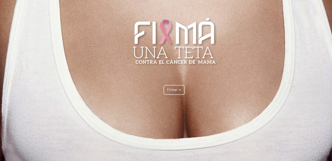 Firmar una teta para luchar contra el cáncer de mama