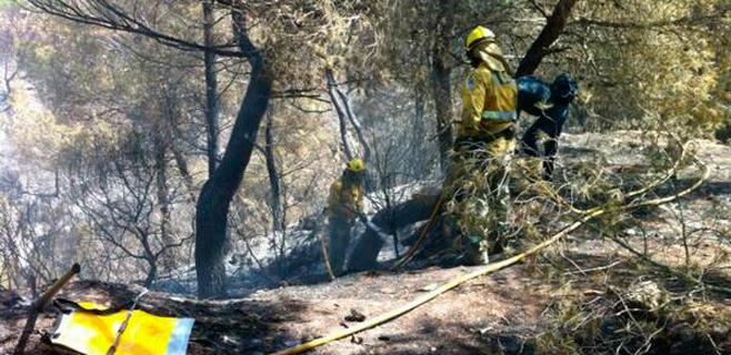 El incendio de Es Cubells pasa a nivel 0 con 17,6 hectáreas afectadas