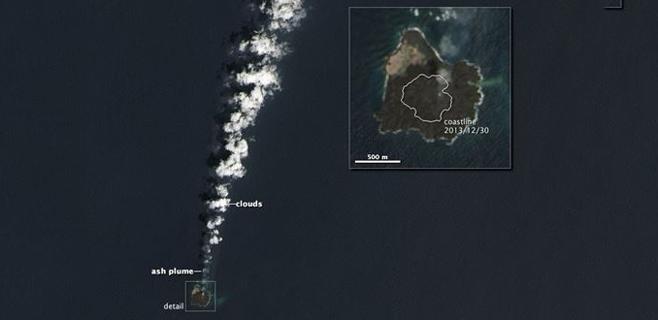 Una nueva isla del Pacífico nace a 1.000 km de Tokio