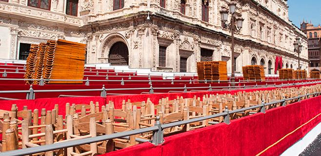 Palma estrenará sillas y palcos para las procesiones de esta Semana Santa