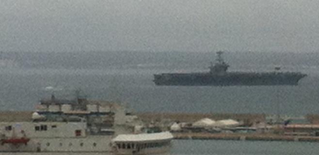 El Harry S. Truman llega a Palma con 6.000 marineros americanos a bordo