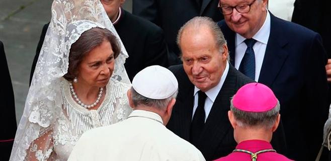 Primer encuentro de los Reyes con el Papa Francisco