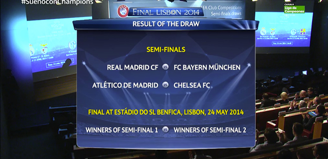 Real Madrid-Bayern y At. de Madrid-Chelsea