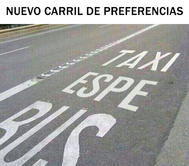 Un carril para Esperanza Aguirre