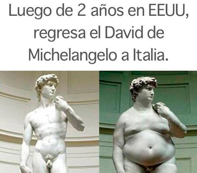 Un David con exceso de hamburguesas