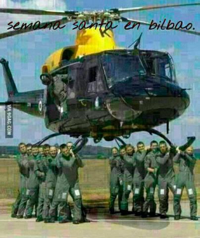 ¡Aiba el helicóptero, Patxi!