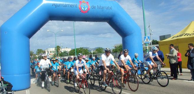 500 niños de Marratxí participan en la II Diada ciclista