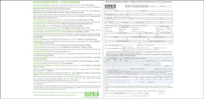 El STE-i tiene 23 a empresas afiliadas a su propia tarjeta de descuentos