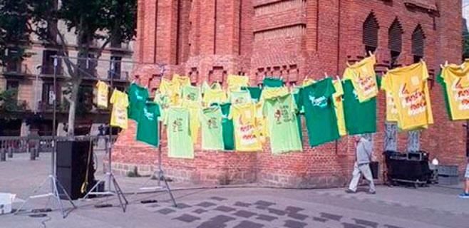 Las 'camisetas verdes' viajan a Barcelona en defensa del catalán