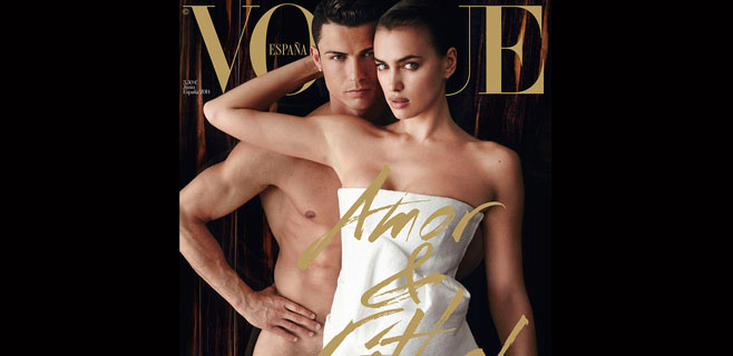 Cristiano Ronaldo posa desnudo con Irina