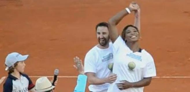 Dani Rovira intenta ligar con Serena Williams
