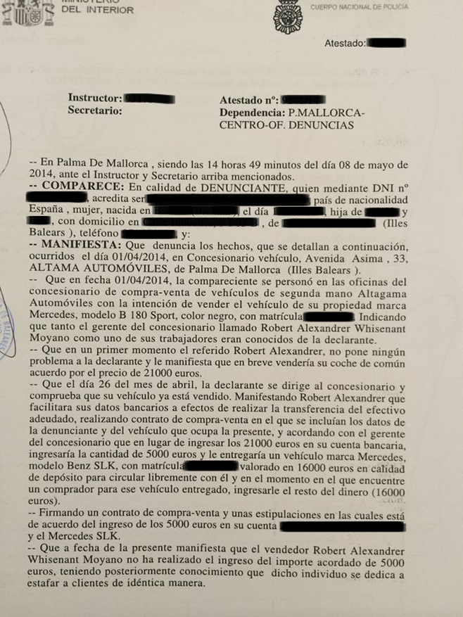 Un compraventa de coches acumula varias denuncias por irregularidades