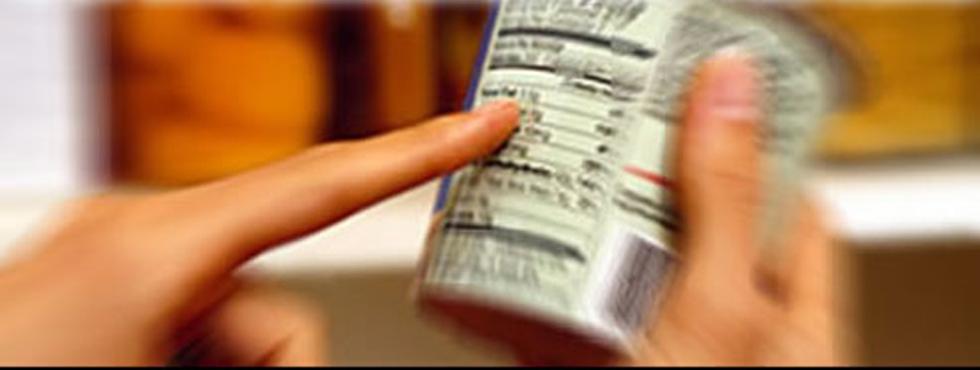 Atención al etiquetado de alimentos