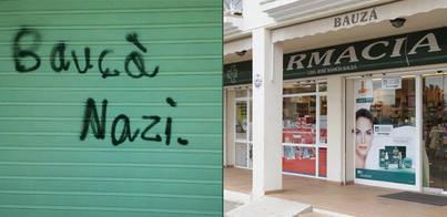 Una pintada en su farmacia acusa de nazi a Bauzá