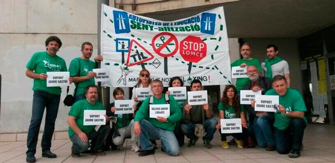 Educació cifra en un 0,7% la incidencia de la huelga de apoyo a Jaume Sastre