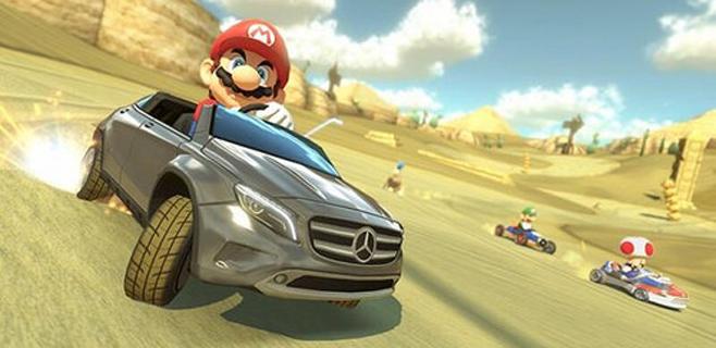 Mario conducirá un Mercedes en el nuevo Mario Kart 8