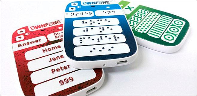 Sale a la venta un teléfono inteligente para ciegos