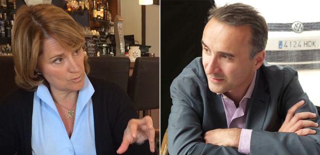 Rosa Estaràs (PP) y Pere Joan Pons (PSOE)