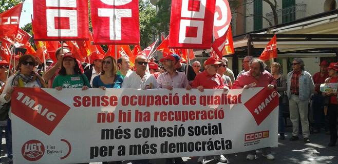 1.000 personas acuden en Palma a la manifestación del Día del Trabajo
