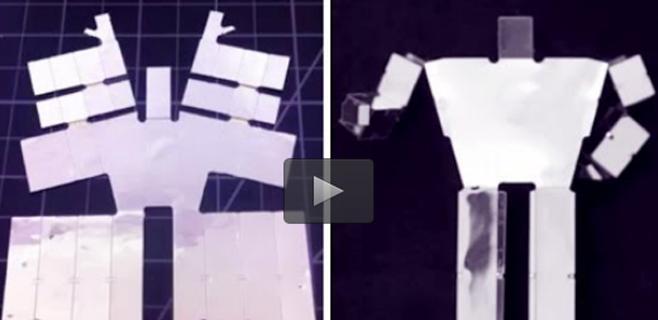 Robots impresos que se autoensamblan con el calor