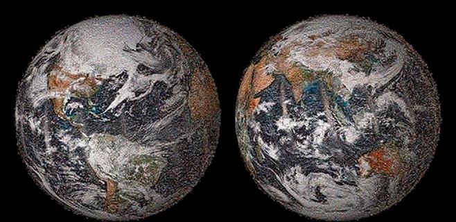 Publicada una imagen de la Tierra hecha con 36.000 'selfies'
