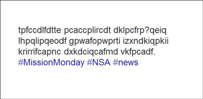 La NSA busca trabajadores con un tweet encriptado