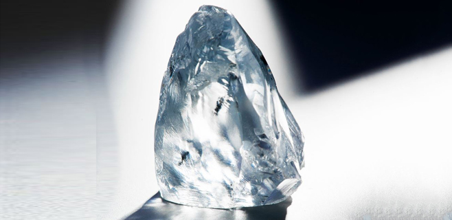Hallado un excepcional diamante azul de 122,52 quilates