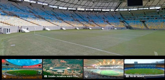 Google maps te muestra los estadios del Mundial